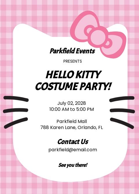 free kitty party invitation templates