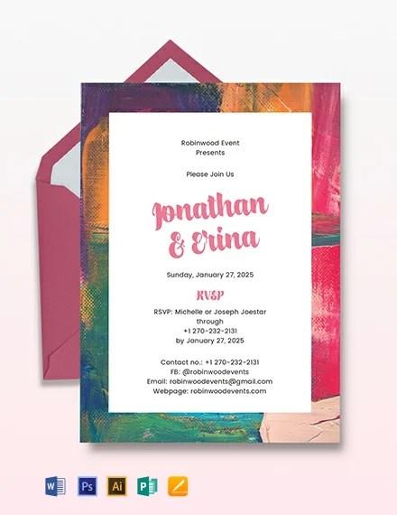 Art Deco Wedding Invitation Template