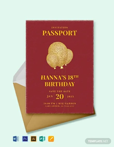 17 passport invitation templates