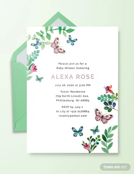 baby shower card designs templates