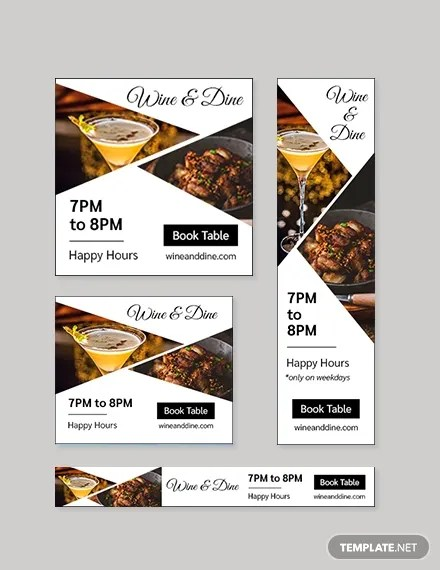 Banner ads allow you to link back and forth in banner exchange programs, market yourself on yahoo! Free Restaurant Bar Google Ad Banner Template Template Net