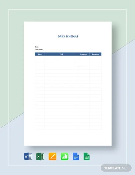Meeting room reservation in whatever place must notify all guest manager. 523 Schedule Templates Free Downloads Template Net