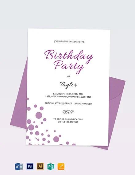 birthday invitations 394 free psd