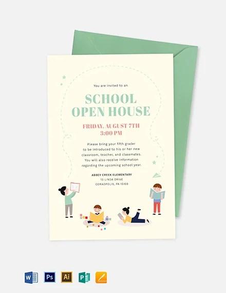 25 open house invitation templates