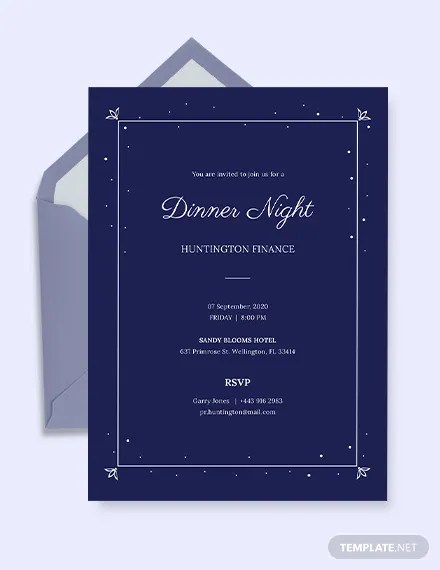 49 dinner invitation templates psd