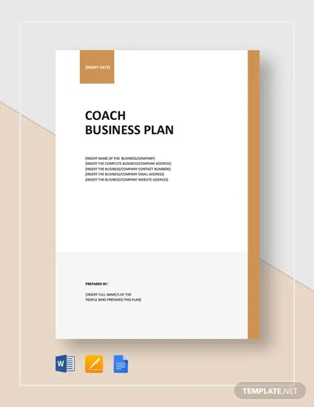 Life Coach Business Plan Template - Word (DOC) | Google ...