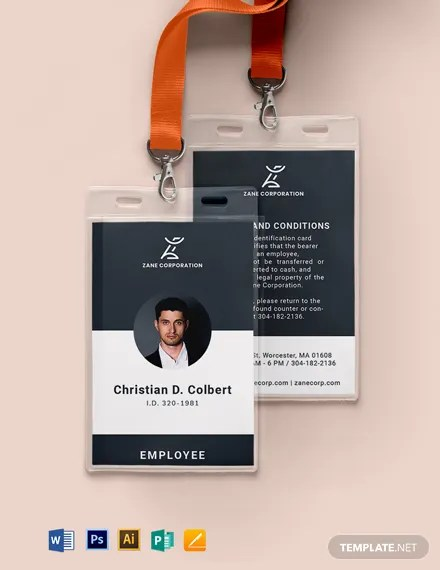 Free Professional Id Card Template Word Psd Indesign