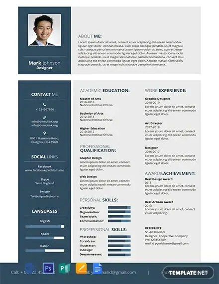 Your resume template has been professionally designed for the right balance of style and content. Free Resume Publisher Templates 161 Download Template Net