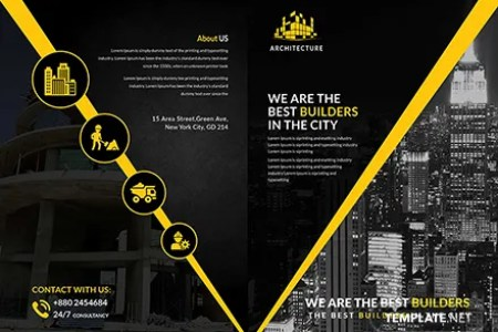 Free Construction Bi Fold Brochure Template  Download 151  Brochures     Free Construction Bi Fold Brochure Template  Download 151  Brochures in  PSD  Illustrator  InDesign  Word  Publisher  Pages   Template net