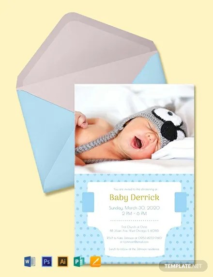Free Diaper Invitation Template