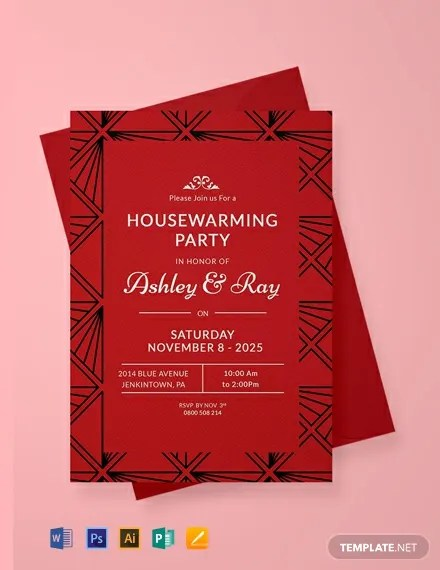 FREE Housewarming Invitation Template Download 866 Invitations In PSD InDesign Word