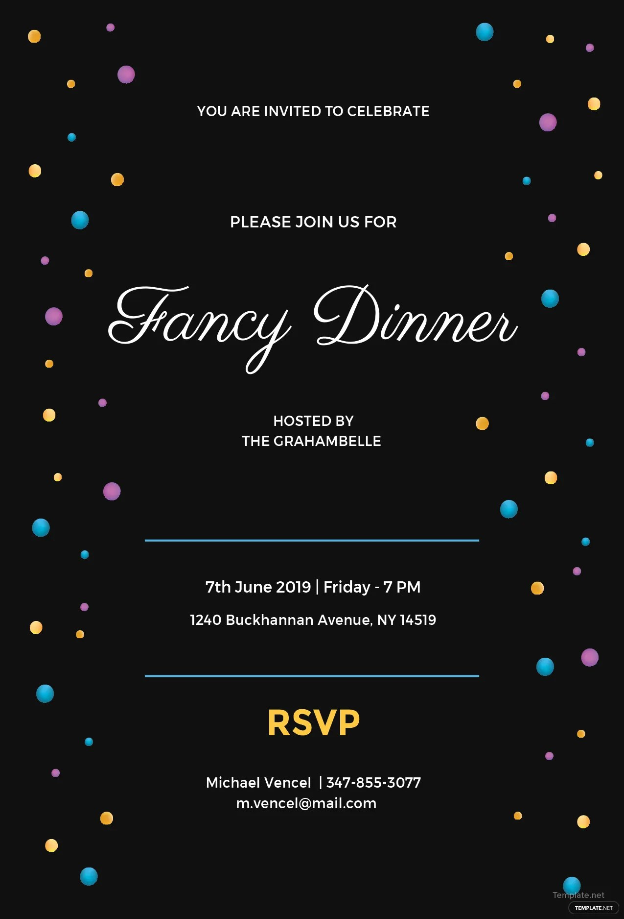 Free Fancy Dinner Invitation Template In MS Word Publisher Illustrator Pages