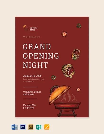 restaurant invitation cards psd ai