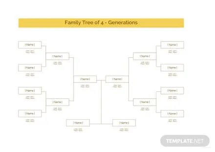 Sample 5 Generation Family Tree Template in Microsoft Word  Apple     Sample Family Tree Template