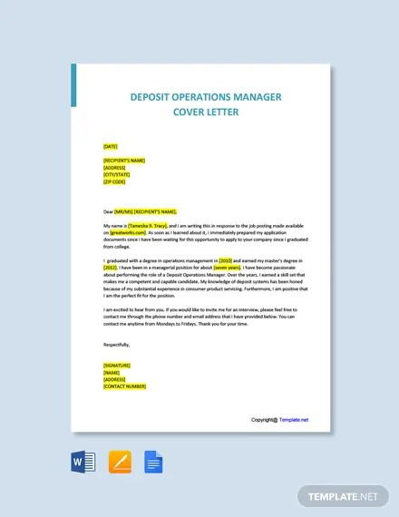 Free Operations Manager Cover Letter Template In Microsoft Word Doc Template Net