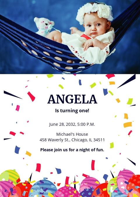 free first birthday invitation