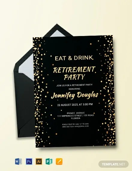 FREE Surprise Retirement Party Invitation Template Download 820 Invitations In PSD InDesign