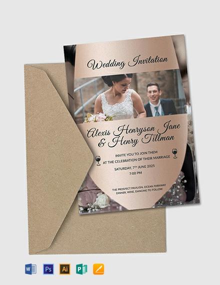 38 Free Wedding Invitation Templates Word Psd