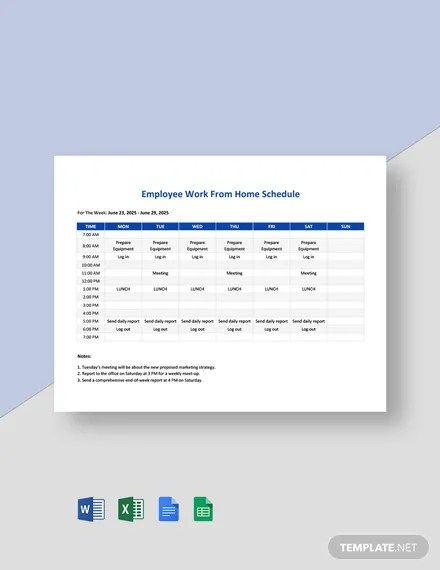 It's a matter of demand and supply. Employee Work From Home Schedule Template In Google Docs Google Sheets Excel Word Template Net