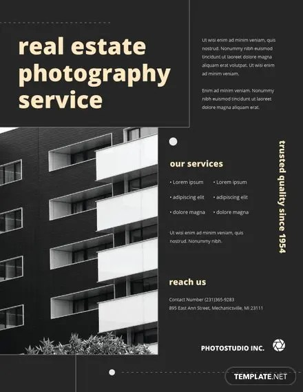 Photography Flyer Template In Adobe Photoshop Illustrator Microsoft Word Publisher Apple