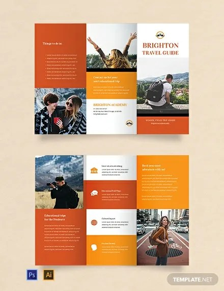 FREE Travel Brochure Template For Students Word PSD InDesign Apple Pages Publisher