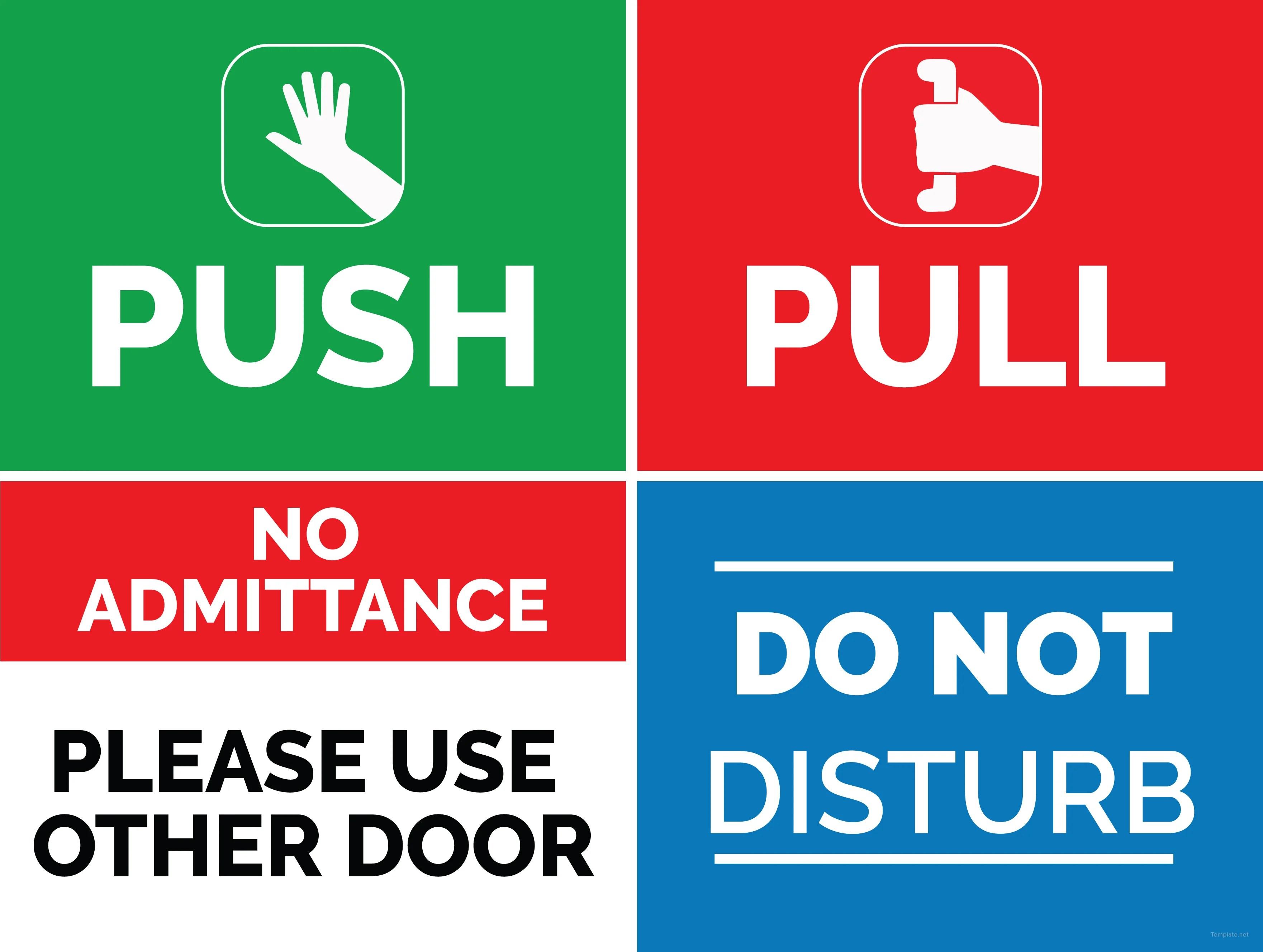 Free Door Sign Template In Adobe Photoshop Illustrator InDesign