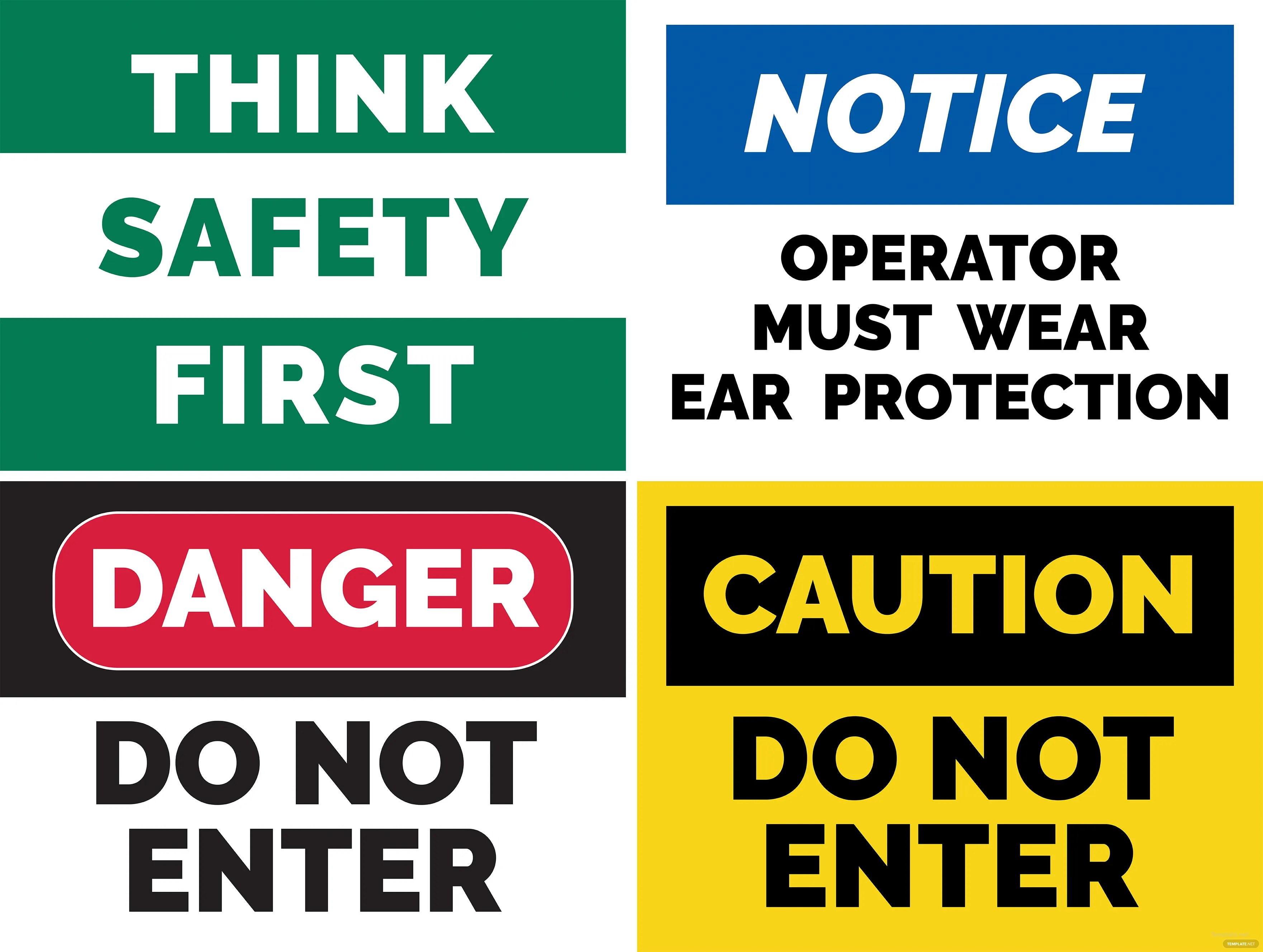 Free Safety Sign Template In Adobe Photoshop Illustrator