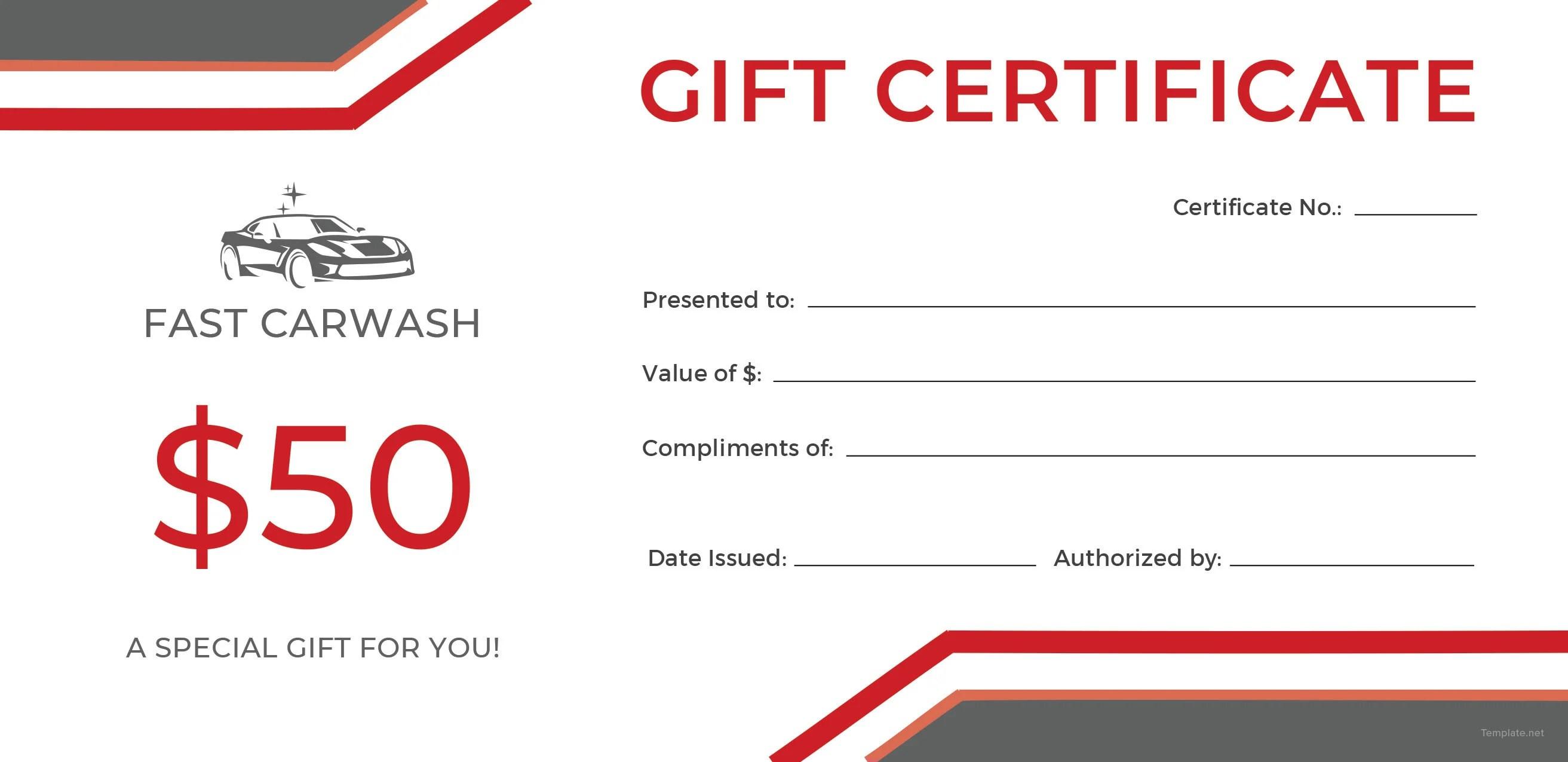 Fancy Blank Gift Certificates