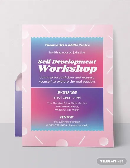FREE Workshop Invitation Template Download 519 Invitations In PSD InDesign Word Publisher