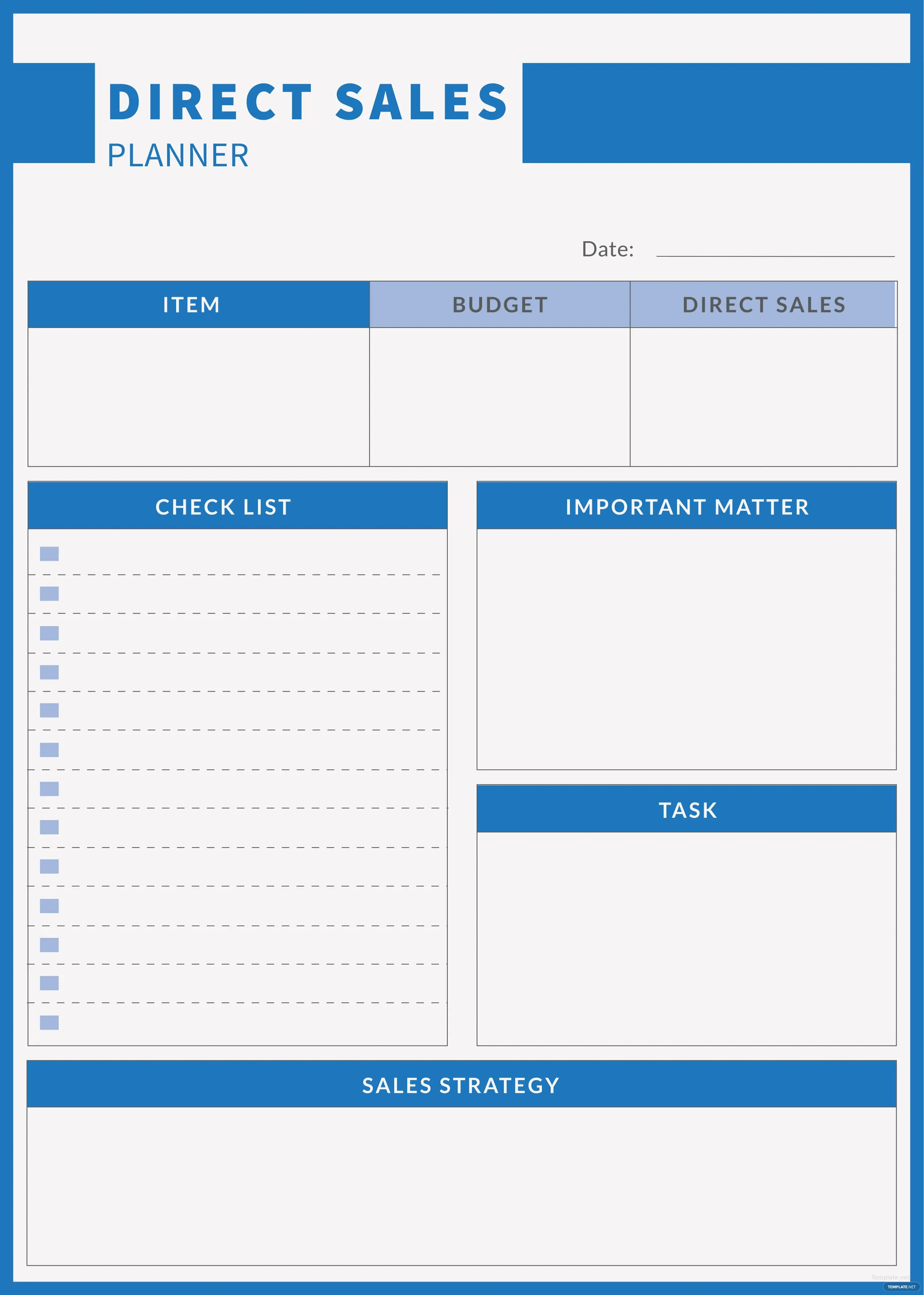Free Direct Sales Planner Template In Adobe Photoshop Adobe Illustrator