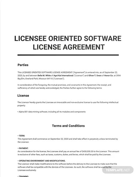 But to avoid later disputes when using an agreement template, it's. Apple License Agreement