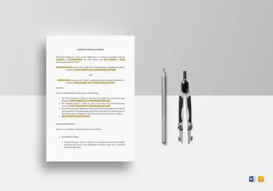 13  Best Rental Agreement Templates   DOC  PDF   Free   Premium     Commercial Rental Agreement to Print