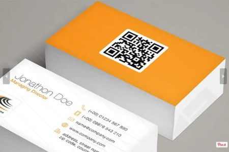 34  Best QR Code Business Card Examples   Identity Mockups Free     QR Code Business Card Template