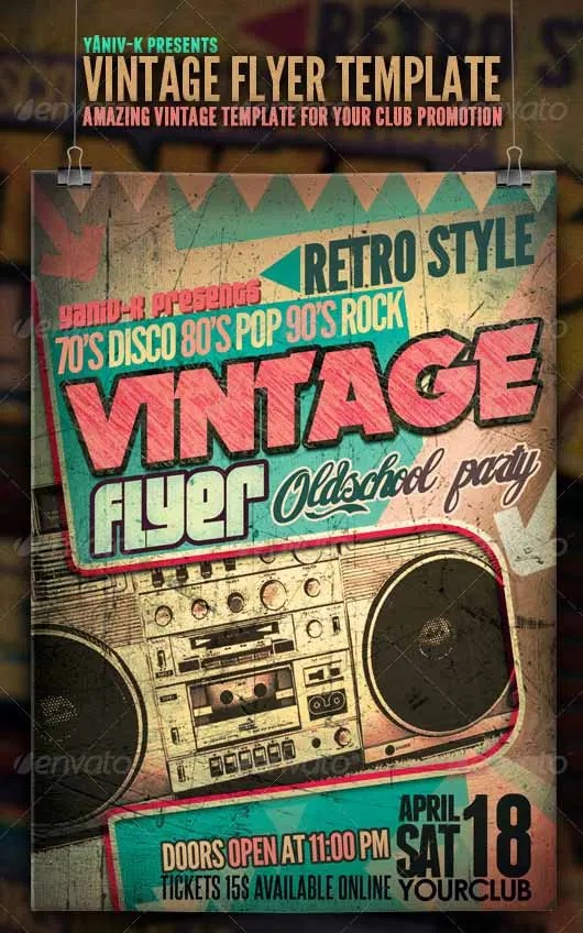 19 Stylish Vintage Flyer Templates PSD Word EPS Vector Apple Pages Free Amp Premium Templates