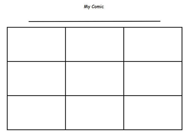 four panel comic strip template - cartoon comic strip template