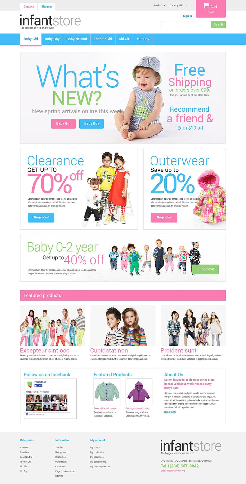 Baby Store Prestashop Website Templates Themes Free Premium Free Premium Templates