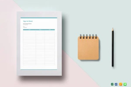 Free Excel Template     27  Free Excel Documents Download   Free     Blank Sign in Sheet Template
