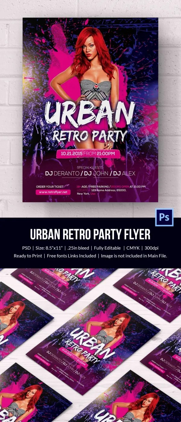 Retro Style Flyer Template 44 Free Psd Format Download