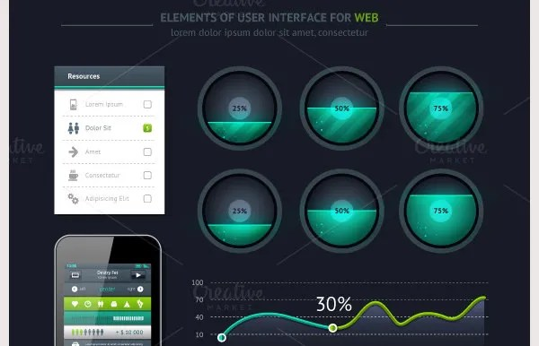 60+ Best User Interface Elements for Download | Free ...