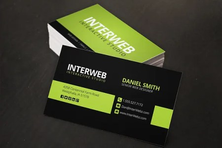 68  Business Cards for Designers   Free   Premium Templates Web Designer Business Card