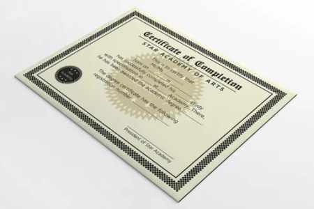 77  Creative Custom Certificate Design Templates   Free   Premium     Completion Certificate Design