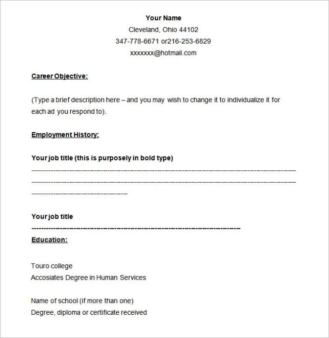 free blank resume templates download resume sample