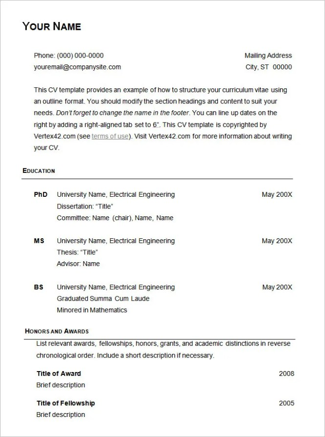 basic resume template 51 free samples examples format - Brief Resume Format