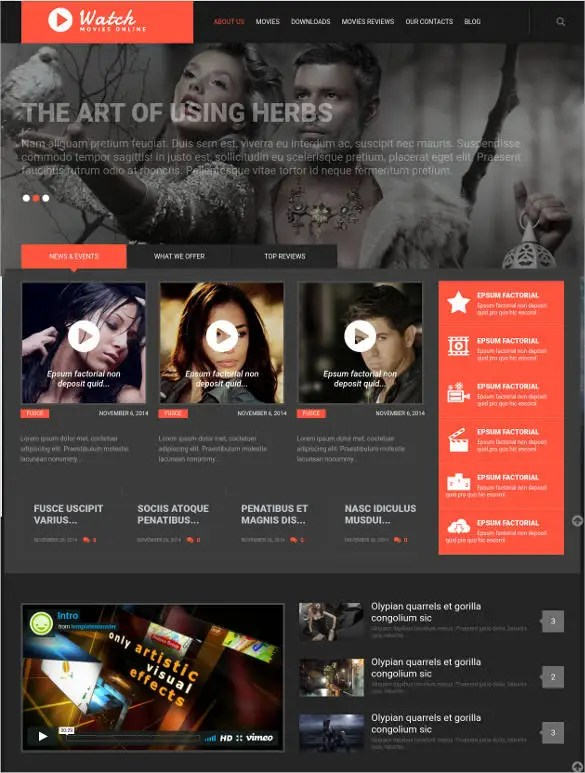 20 Cinema WordPress Themes Amp Templates Free Amp Premium Templates