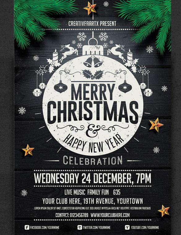 57 Christmas Flyer Templates Free PSD AI Illustrator