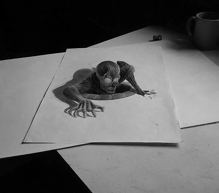 26+ 3D Pencil Drawings - Pencil Drawings & Designs | Free ...