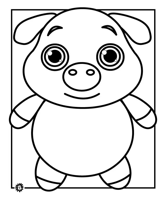 Baby Hog Clip Art Black White
