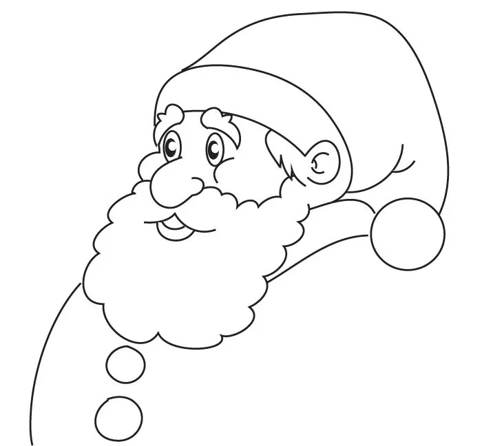 61 best santa templates shapes crafts & colouring pages