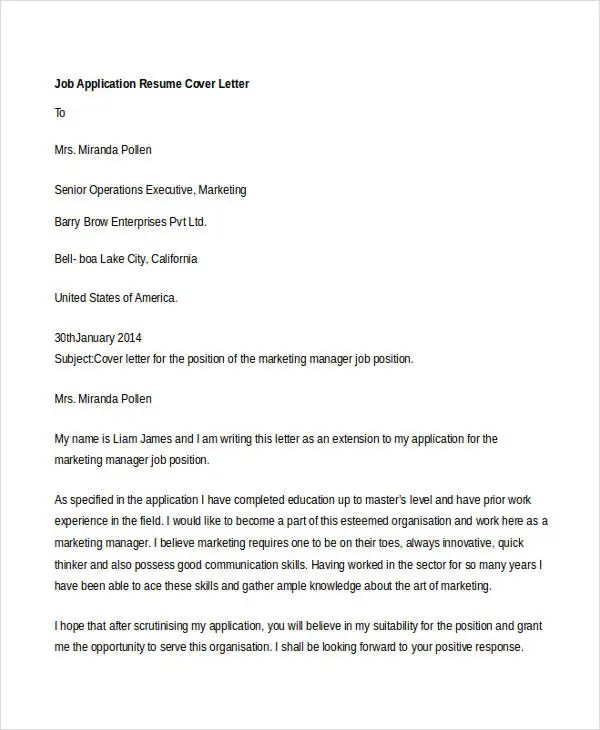 Cover Letters For Lications Nih Letter