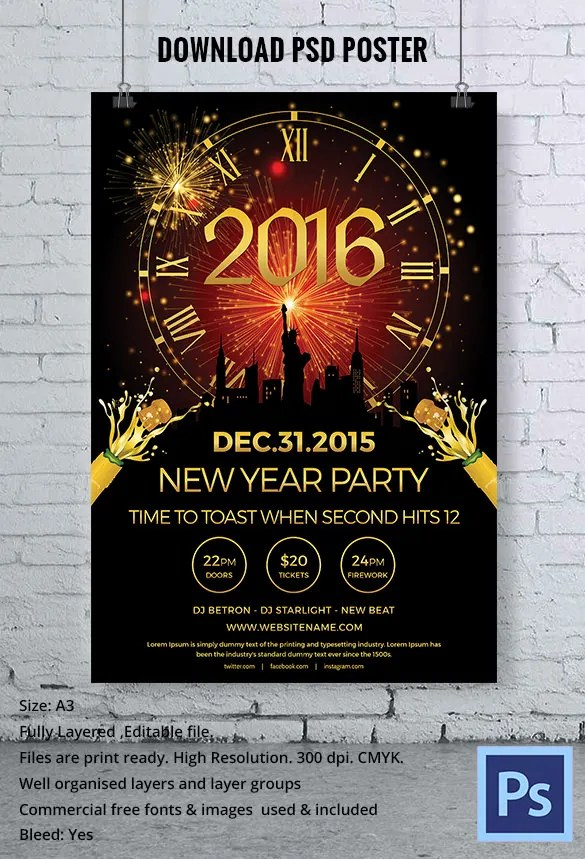 elegant new year poster